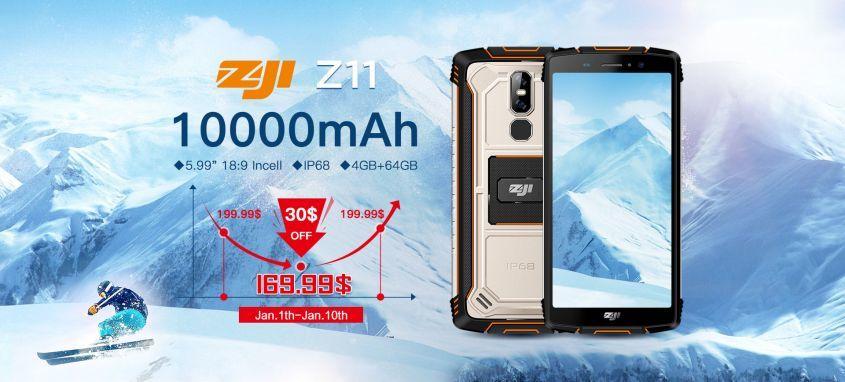 Мощный смартфон ZOJI Z11 (10000mAh Rugged) всего за 169,99$!