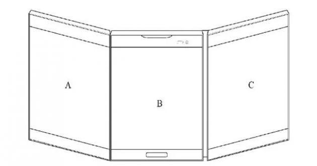 LG создает смартфон с тройным дисплеем!