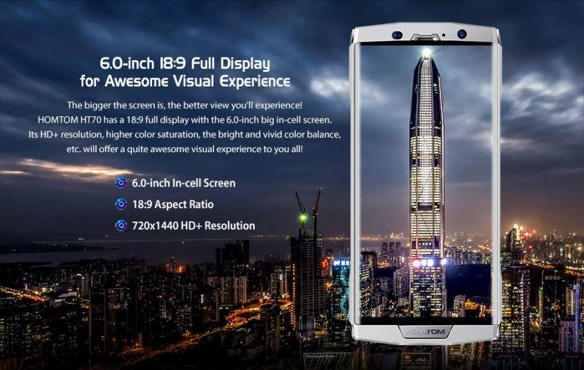 HOMTOM HT70 - самый тонкий в мире телефон с мощной зарядкой 10 000mAh и большим дисплеем!