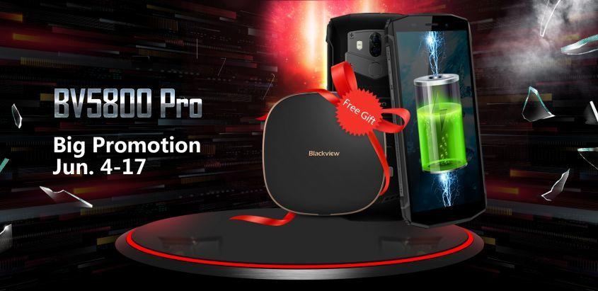 Купи смартфон BV5800Pro с большой скидкой и получи бесплатно беспроводное зарядное устройство!