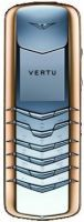 Vertu Signature Stainless Steel with Red Metal Bezel