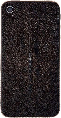 Apple iPhone 4S 16GB черные камни, кожа полированного ската