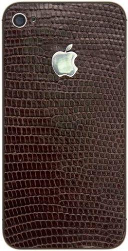 Apple iPhone 4S 16GB позолота, кожа игуаны, посеребренное яблоко