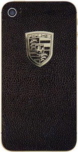 Apple iPhone 4S 16GB позолота, кожа ската, значок Porsche