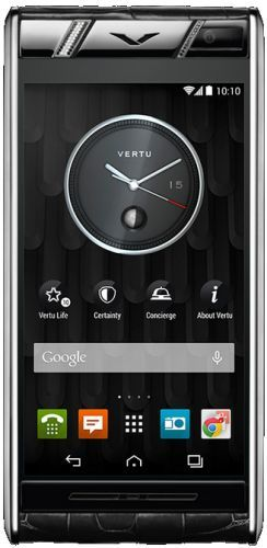 Vertu Aster Diamonds Black Alligator