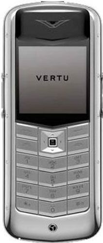 Vertu Constellation Exotic Polished stainless steel black ostrich skin