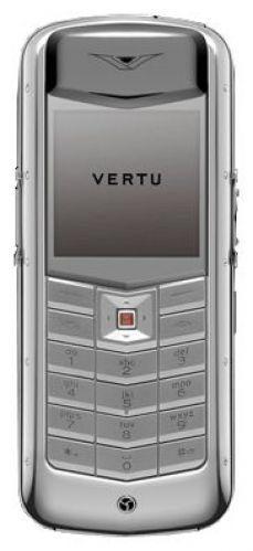Vertu Constellation Exotic polished stainless steel dark brown karung skin