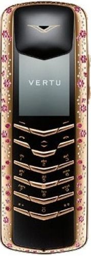 Vertu Signature M Design Rose Gold Pink Sapphires